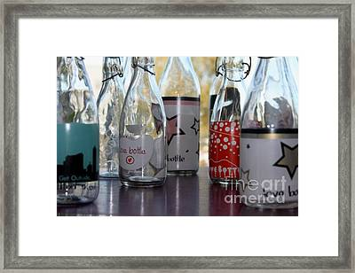 Bottles Framed Print by Tanja Hymel