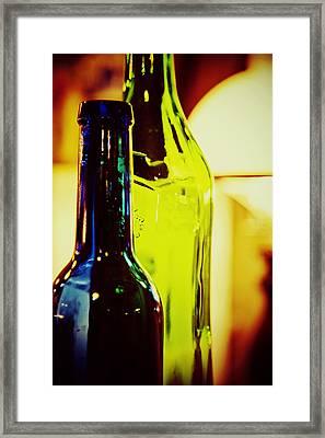 Bottles Framed Print by Toni Hopper