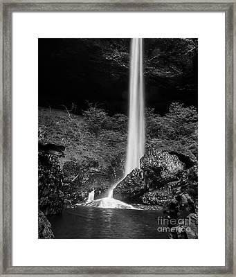 Bottom Of North Silver Falls Framed Print