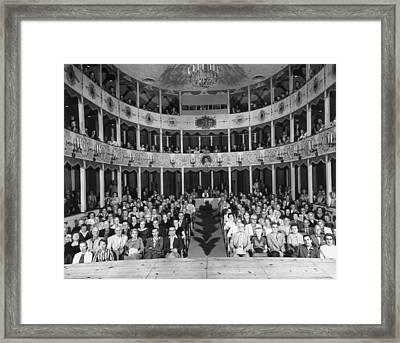 Bottom Stalls Framed Print by Archive Photos