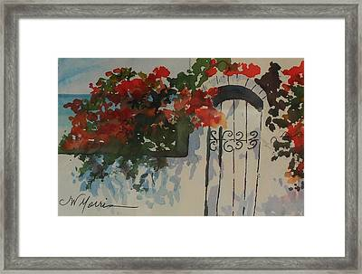Bougainvillea At My Beach Cottage Framed Print by Jill Morris