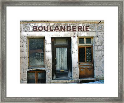 Boulangerie Framed Print by Georgia Fowler