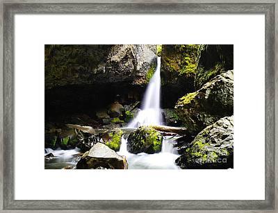 Boulder Cave Falls Revisited Framed Print by Jeff Swan