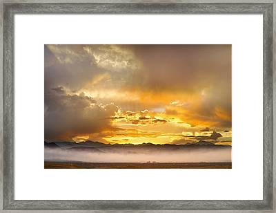 Boulder Colorado Flagstaff Fire Sunset View Framed Print by James BO  Insogna