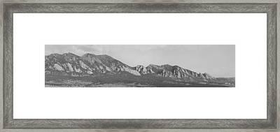 Boulder Colorado Flatiron Front Range Panorama Bw Framed Print by James BO  Insogna