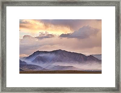 Boulder Colorado Flatirons And The Flagstaff Fire Framed Print by James BO  Insogna