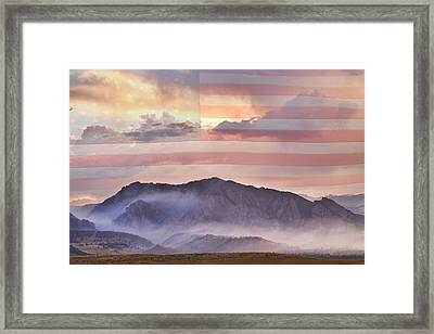 Boulder Colorado Flatirons And The Flagstaff Fire Usa Framed Print by James BO  Insogna