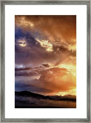 Boulder Colorado Smoky Sunset  Framed Print