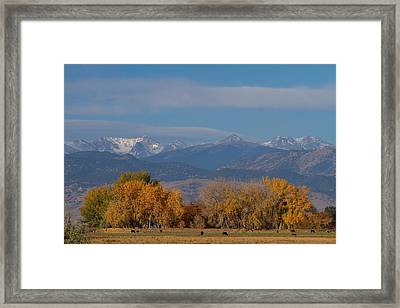 Boulder County Colorado Continental Divide Autumn View Framed Print by James BO  Insogna