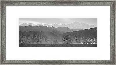 Boulder County Colorado Layers Panorama Bw Framed Print by James BO  Insogna