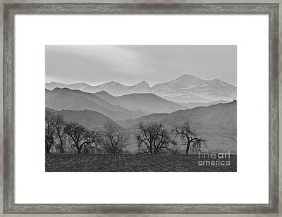 Boulder County Layers Bw Framed Print by James BO  Insogna