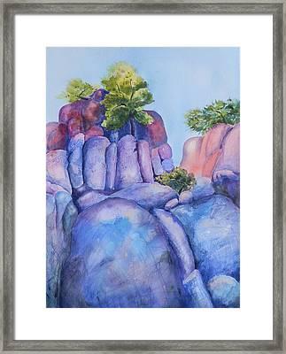 Boulders Framed Print