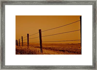 Framed Print featuring the photograph Boundary by Rima Biswas