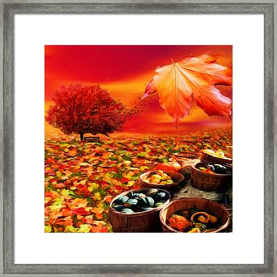 Bounteous Framed Print by Lourry Legarde