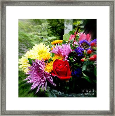 Bouquet  2 Framed Print by Tanya  Searcy