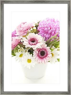 Bouquet Of Flowers Framed Print by Elena Elisseeva