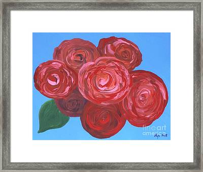 Framed Print featuring the painting Bouquet Of Roses by Alys Caviness-Gober
