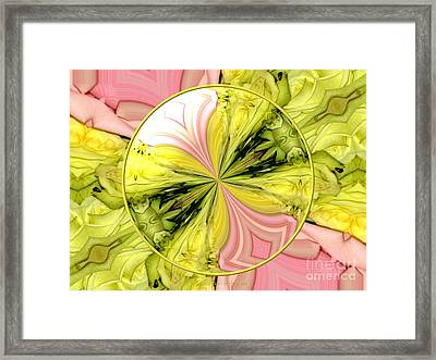 Bouquet Of Roses Kaleidoscope 9 Framed Print by Rose Santuci-Sofranko