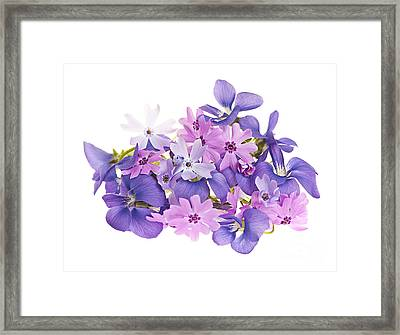 Bouquet Of Spring Flowers Framed Print
