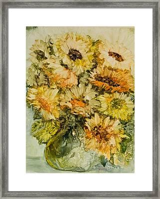 Bouquet Of Sunflowers Framed Print