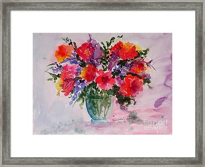 Bouquet Of Wishes Framed Print by Kimberlee Weisker