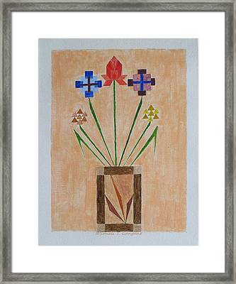 Framed Print featuring the painting Bouquet by Sonali Gangane