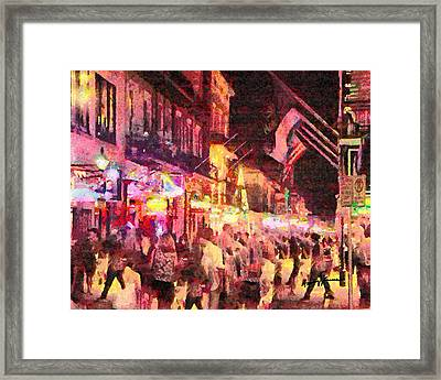 Bourbon Street Framed Print by Anthony Caruso