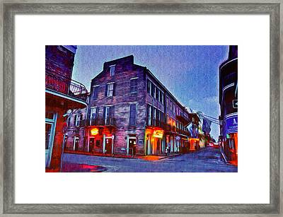 Bourbon Street In The Quiet Hours Framed Print by Bill Cannon