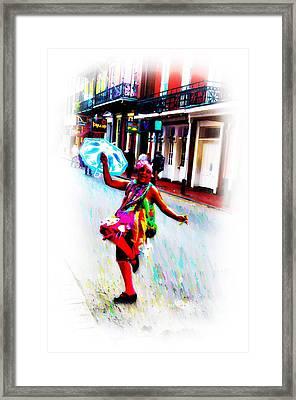 Bourbon Street Lady Framed Print by Bill Cannon