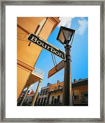 Bourbon Street New Orleans Framed Print