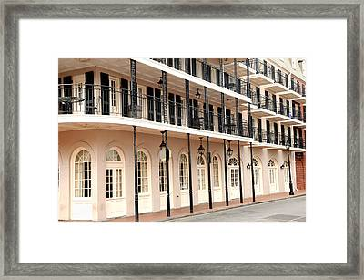 Framed Print featuring the photograph Bourbon Street Restaurant by Bradford Martin