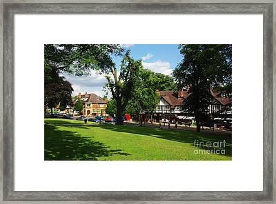Bournville Village Green Framed Print by John Chatterley