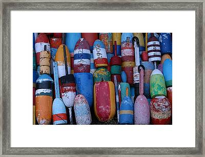 Bouys No Gulls Framed Print by Mike Martin