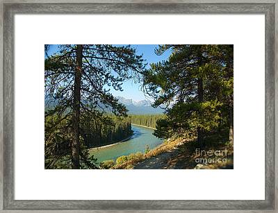 Framed Print featuring the photograph Bow River by Bob and Nancy Kendrick