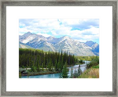 Bow River Near Canmore Alberta Framed Print