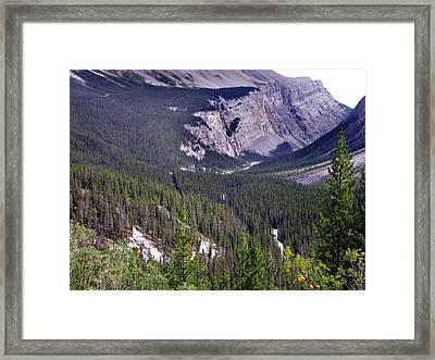 Bow River Valley Framed Print by George Cousins