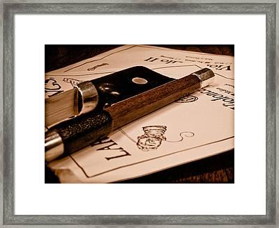 Bow Strings Framed Print