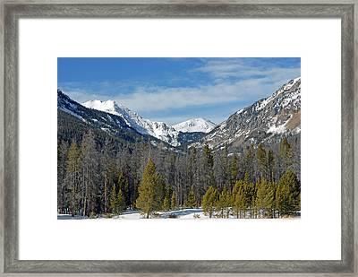 Bowen Mountain In Winter Framed Print