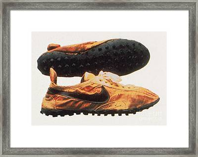 Bowermans Waffle Sole Design Framed Print by Photo Researchers