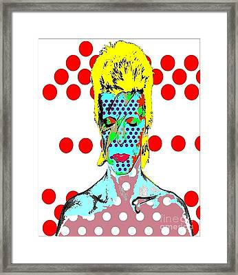 Bowie Framed Print by Ricky Sencion