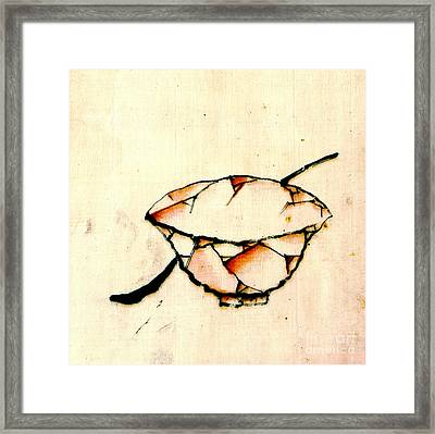 Bowl And Spoon 1840 Framed Print by Padre Art