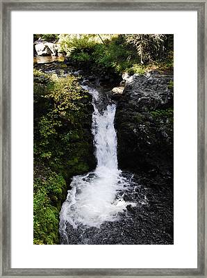 Bowl Falls Framed Print by Arlyn Petrie
