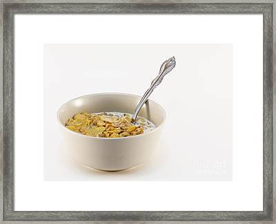 Bowl Of Cereal Framed Print by Blink Images