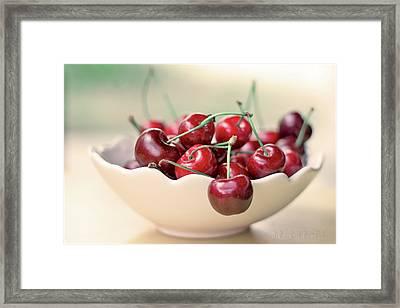 Bowl Of Cherries Framed Print by Photo Hélène