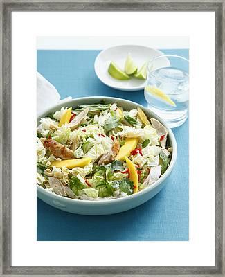 Bowl Of Chicken And Mango Salad Framed Print by Cultura/BRETT STEVENS