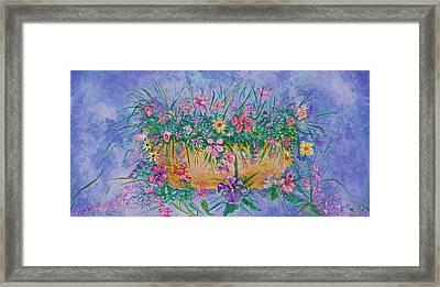 Bowl Of Flowers Framed Print