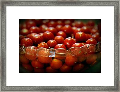 Bowl Of Summer Framed Print by Karen Wiles