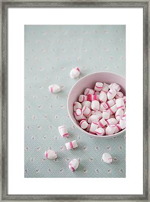 Bowl Of Sweets Framed Print by Elin Enger