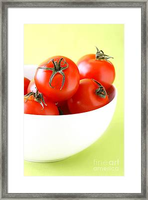 Bowl Of Tomatoes Framed Print by HD Connelly