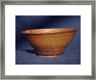 Bowl With Texture Framed Print